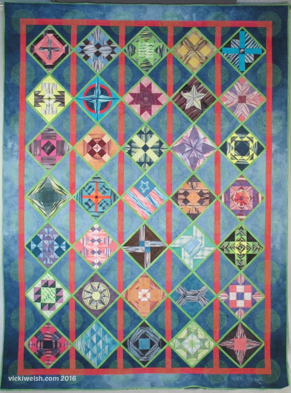 Luras Choice Hand Dyed Sampler Quilt
