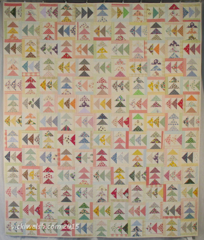flying geese quilt by vicki welsh