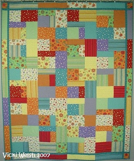 The Gift Quilt Pattern - Colorways By Vicki Welsh : fast and easy quilts - Adamdwight.com