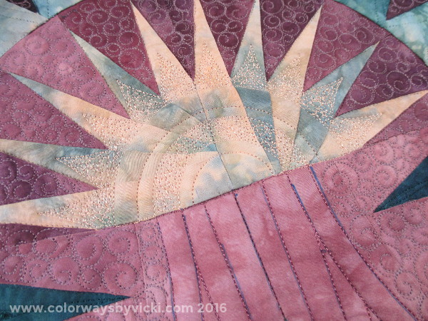 longarm quilting hand dyed fabric Picture