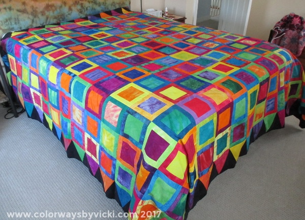 rainbow quilt hand dyed fabric