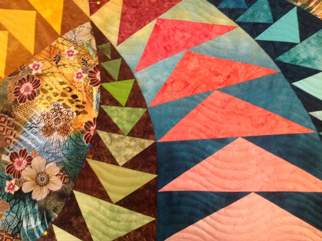 susan buckingham quilt with hand dyed fabric