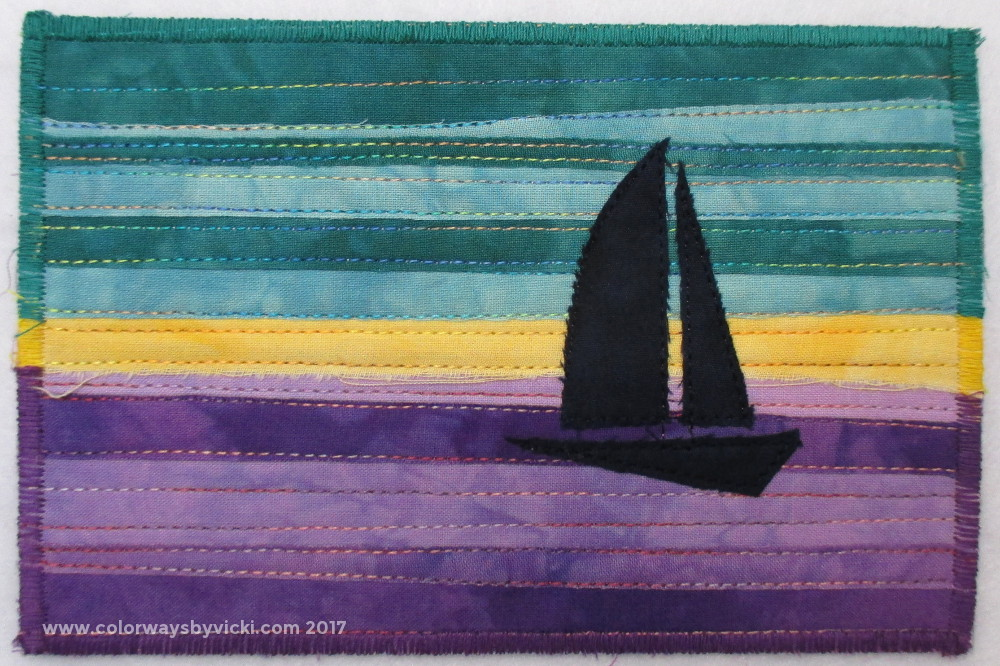 vicki welsh fabric postcard