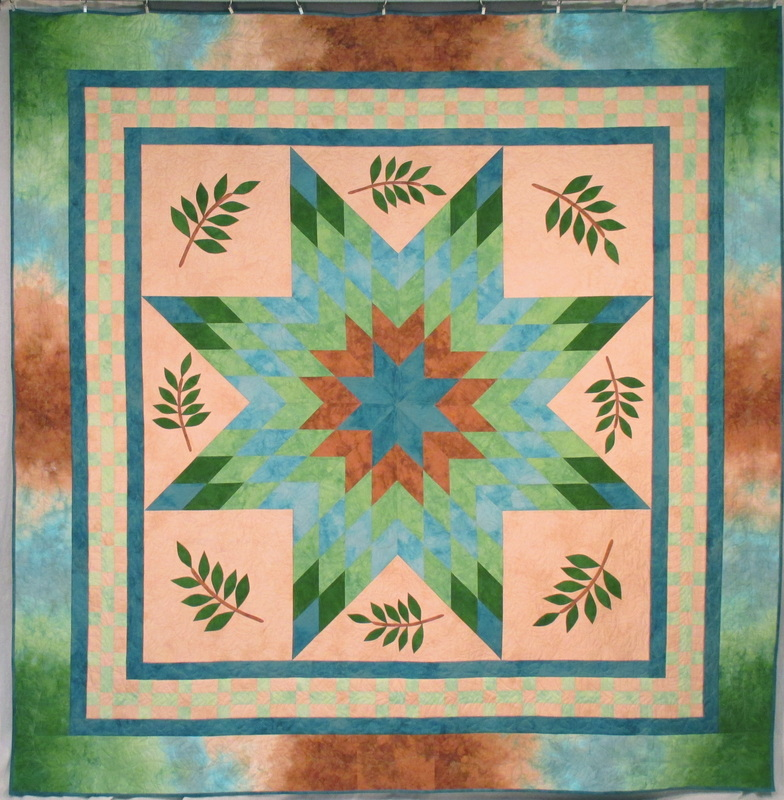 hand dyed lone star quilt