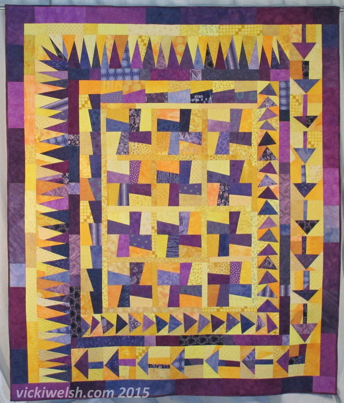 fractured fragments quilt by vicki welsh