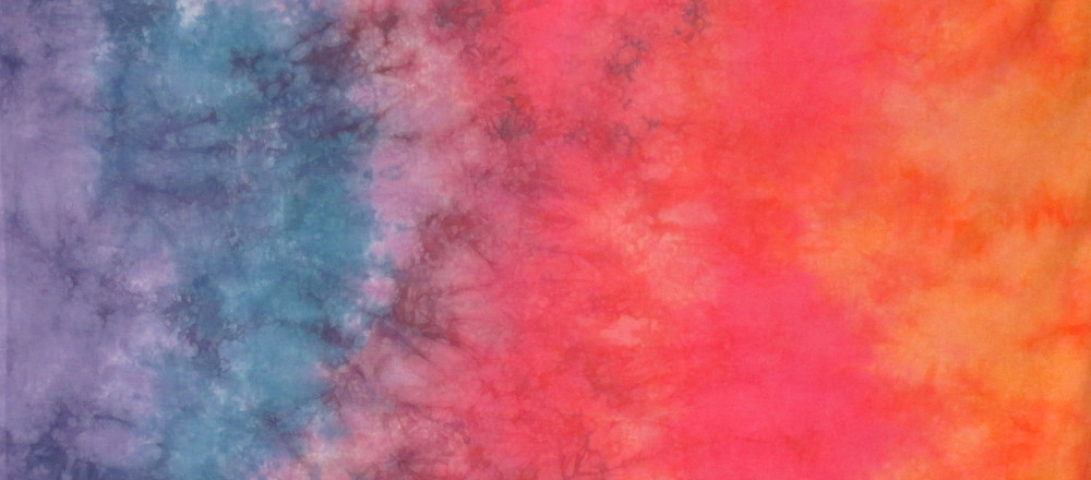 appalachian sunset gradient hand dyed fabric