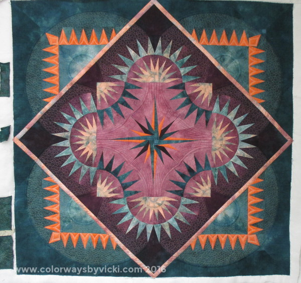 hand dyed quilt by vicki welsh