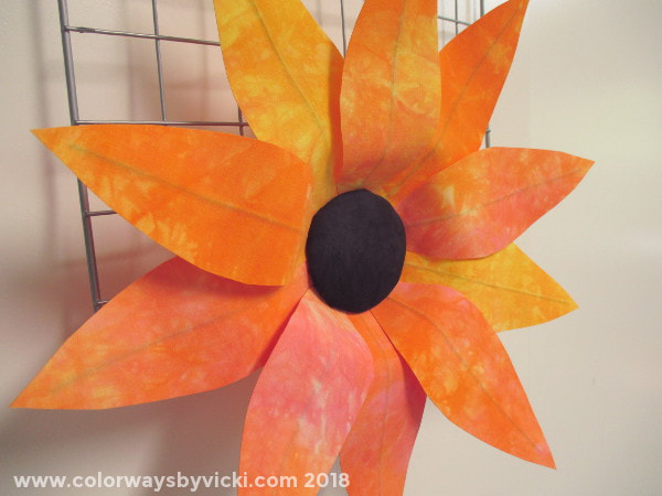 wired fabric flowers