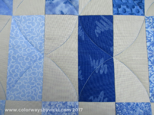vicki welsh longarm quilted diamonds