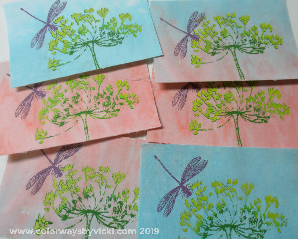 vicki welsh fabric postcards