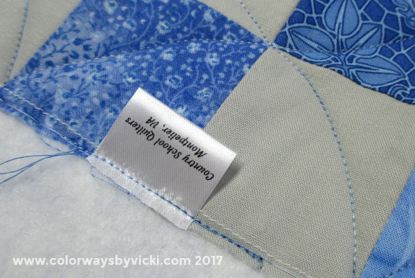 vicki welsh quilt label