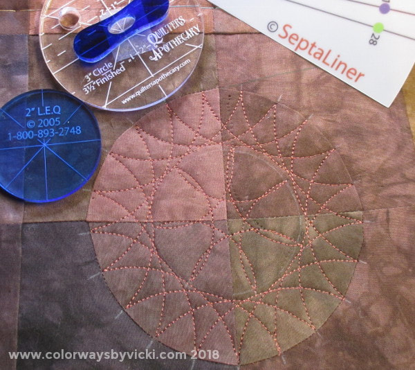 spirograph longarm quilting