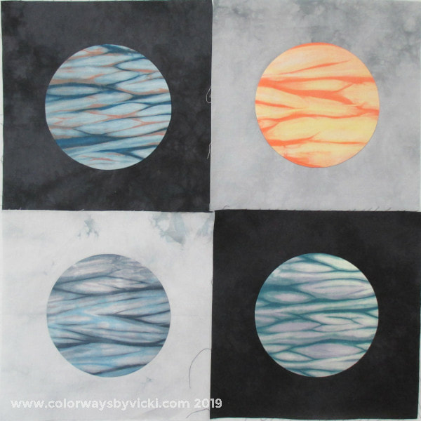 shibori moon applique