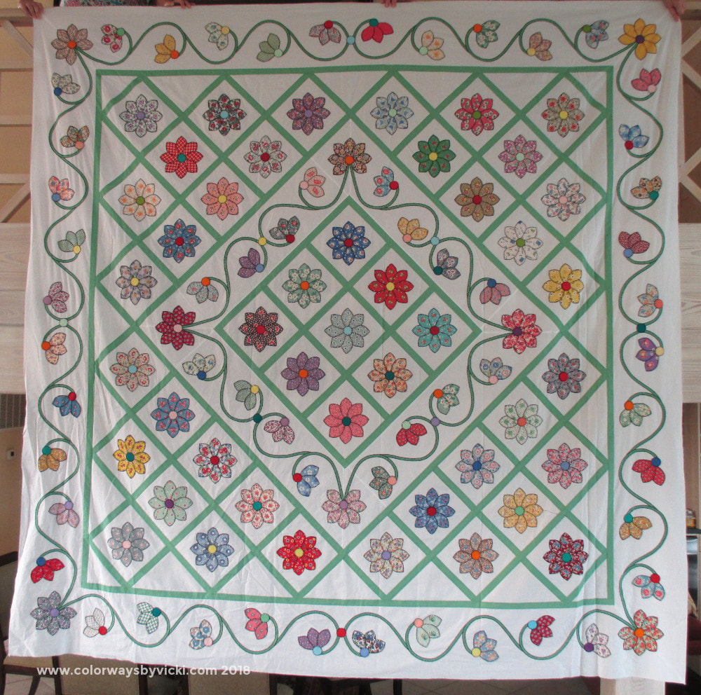vicki welsh blanket stitch quilt