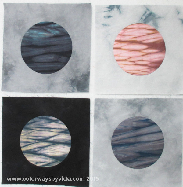 shibori hand dyed fabric