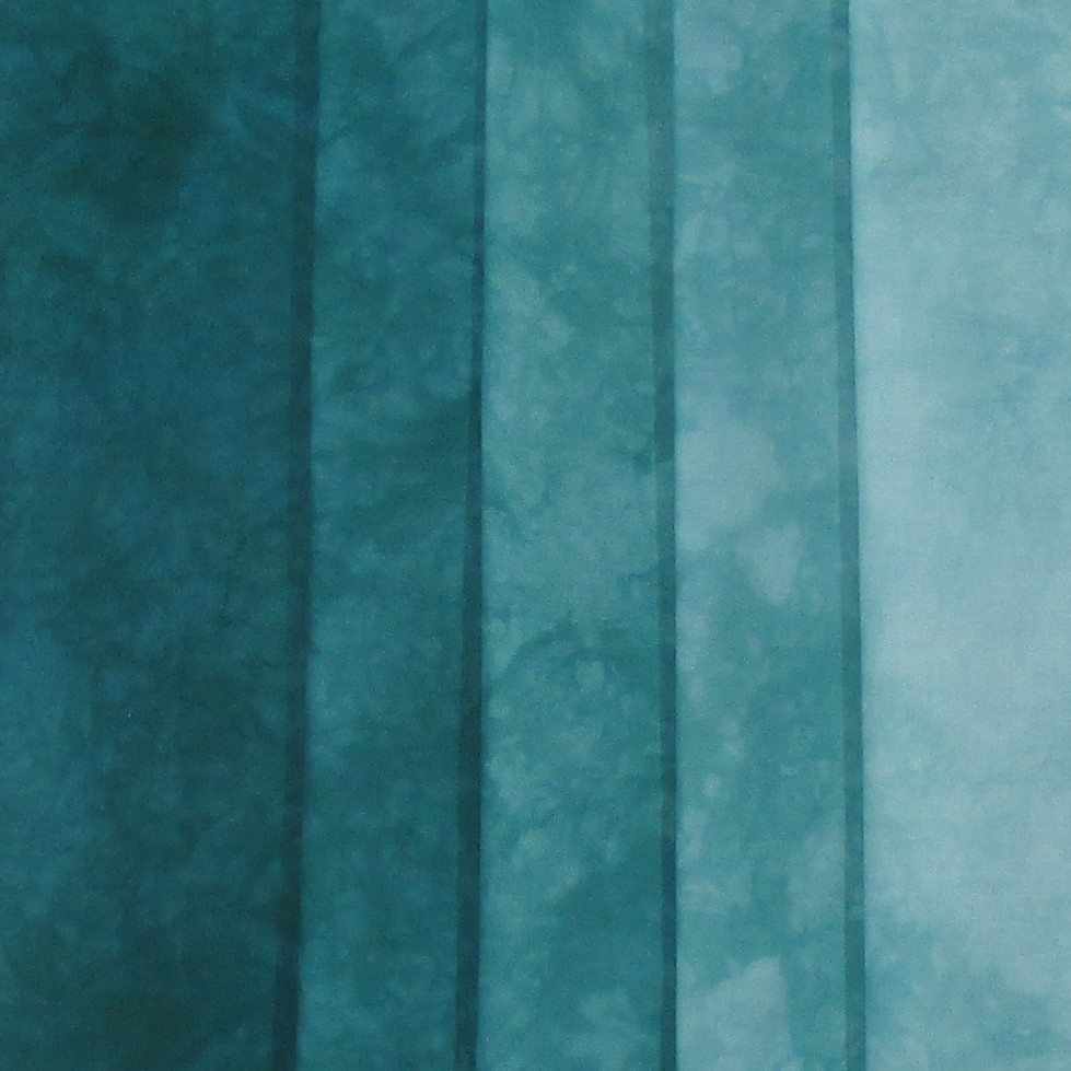 Hand Dyed Fabric Shades Blue Green