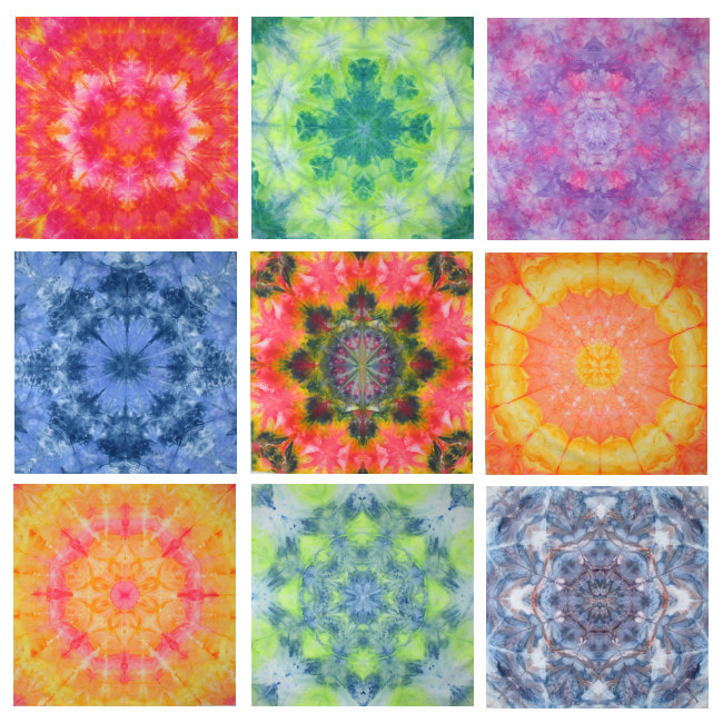 hand dyed fabric mandala